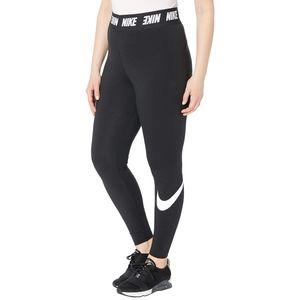 Nike Sportswear Black Club Logo Hi Rise Leggings
